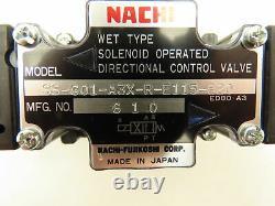 Nachi Ss-g01-a3x-r-e115-e20 Commande Directionnelle Hydraulique Vanne Solénoïde 120v