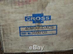 New Cross 40m005dacs Bi-directionnel De Vitesse Hydraulique Moteur 3/4 Arbre Clé Série 40