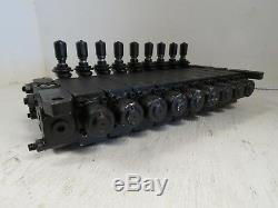 Nouveau Parker 9 Section De Contrôle Directionnel Hydraulique Valve 9 Spool