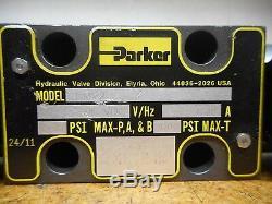 Parker 2nmv2 24vdc 1.39a Hydraulique Valve Directionnelle D'occasion Avec Garantie