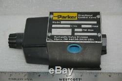 Parker D3w8enyc 14 Electro. 72,75 Ampères Bi-directionnelle Hydraulique Vanne De Régulation Nouveau