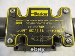 Parker Dg1vw001c4njg3w Valve Directionnelle Hydraulique D08 Centre Fermé 24vdc