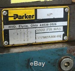 Parker Solenoid-distributeur Sur Le Manifold D1vw20bnjpf4 24vdc 4000psi