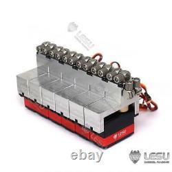 Pelle De Chargeuse Hydraulique En Métal Lesu 6ch Servo 1/14 Rc Pelle De Chargeuse De Camion Hydraulique