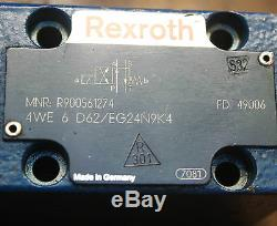 Rexroth 6 D62g24n9k4 4we Hydraulics 00561274 Opéré Solenoid Valve Directionnelle