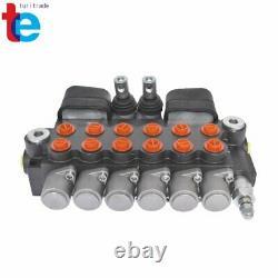 Soupape De Commande Directionnelle De Pelle Rétrocaveuse Hydraulique Avec 2 Joysticks, 6 Bobines, 21 Gpm