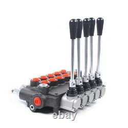 Soupape De Commande Directionnelle Hydraulique 5 Bobine 4500psi Pression 80l/min Pour Tracteur