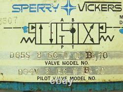 Sperry Vickers Dg5s-8-6c-w-b-10 Base De Vanne De Commande Directionnelle Hydraulique D08