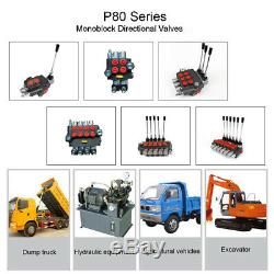Une Bobine Hydraulique De Commande Directionnelle Valve 80l / Min 21 Gpm 4500psi Tracteur