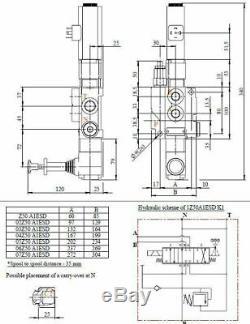 Une Soupape De Commande Directionnelle Hydraulique À Solénoïde Bobine 13gpm 12vcc + Commande Manuelle