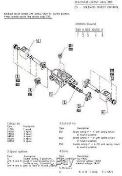 Une Soupape De Commande Directionnelle Hydraulique À Solénoïde Bobine 21gpm 12vcc, Monobloc