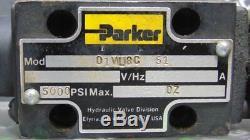 Used parker D1vl8c Hydraulique De Contrôle Directionnel Valve 5000 Psi Max