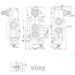 Valve De Commande Directionnelle Hydraulique 6spool 11gpm, Doubleacting Cylinder Spoolnew