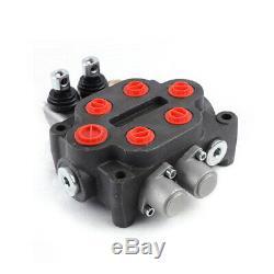 Valve De Contrôle Directionnel Hydraulique Pour Tracteur Chargeur Avec Joystick, 2 Spool, 25