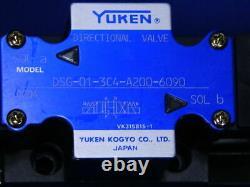 Valve Directionnelle Hydraulique Yuken Dsg-01-3c4-a200-6090 Nouveau