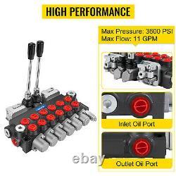 Vevor 6 Bobine 11 Gpm Chargeur De Vanne De Commande Directionnelle Hydraulique Avec 2 Joysticks