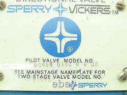 Vickers Dg4s4-013c-wb-50 Valve Solénoïde De Commande Directionnelle Hydraulique D05 120v