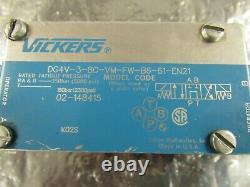 Vickers Dg4v-3-8c-vm-fw-b6-61-en21 Valve Hydraulique De Commande Directionnelle