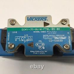 Vickers Dg4v-3s-6n-m-ftwl-b5-60 Soupape De Commande Directionnelle Hydraulique 120v Bobines