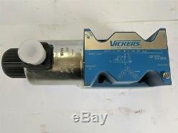 Vickers Dg4v-5-2aj-m-u-h6-20-j99 Solenoid Commande Directionnelle Valve 2333582 Nouveau