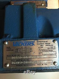 Vickers Dg5s8-0a-mfwb-6-40 Hydraulique Pilote Directionnel Control Valve Nouveau