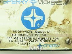 Vickers F3-dg4s4-012c-50 Valve Solénoïde De Commande Directionnelle Hydraulique D05 120v