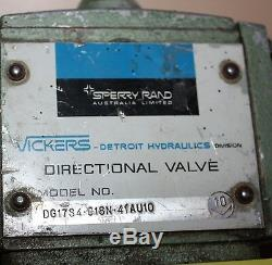 Vickers Hydraulique Valve Directionnelle Dg17s4.018n. 41au10 Aeroquip 5653-10 Connexion