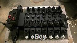 Walvoil Flv511a70057 Hydraulic7spool Contrôle Directionnel Valve12vdc